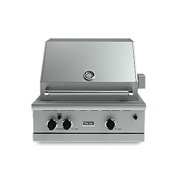 Viking 300 series vgbq33002renss 30 built in natural gas for Viking built in grill